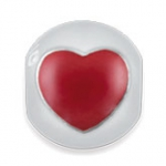 772000 - Bacio Bead Stopper - Silver / Red Heart