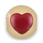 772000G - Bacio Bead Stopper - TT / Red Heart