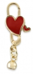 752001G - Bacio Clasps - Heart Emaille TT Red