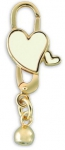 752003G - Bacio Clasps - Heart Emaille TT White
