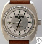 cop09010 - Copha Circle - Silver with leather strap