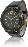 cop09021 - Copha Predator - Black with Black Leather Band