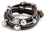 EJ-Dark Brown (Wikkel) - Enchanted Jewels Bracelets - Dark Brown (Wikkel)