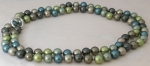 698510907 - Pearl Necklace - Blue / Green Hues