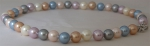 698510002 - Pearl Necklace (Lilac, Blue, Ochre, Silver and Pink)