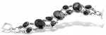 pur10004 - Pure Bracelet with Obsidian Snow People
