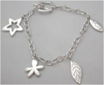 pur09001 - Pure Bracelet - Silver with Charms