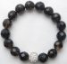 edel10010 - Smoky Quartz Bracelet with CZ Charm
