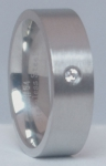 69.587.2554 - Stalen Ring met Zirconiasteen (Breed)